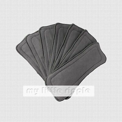 AU34.99 • Buy 10 X 5-layer Reusable Bamboo Charcoal Inserts / Liners For Modern Cloth Nappies