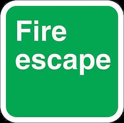 Health And Safety Green Safety Sticker Fire Escape Text Sticker • 1.73£