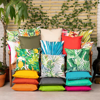 £12.99 • Buy Outdoor Cushions Garden Water Resistant Fabric Jungle Palm Print Filled Cushion