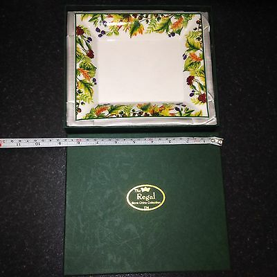 Vintage REGAL BONE CHINA Collection DISH Collectable BOXED - NIBBLES / NUTS BOWL • 15.96£