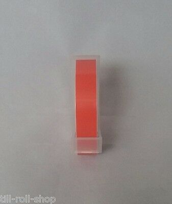 £2.25 • Buy Dymo Compatible 9mm Embossing Tape (Orange)(1 Roll) (3 Metres Per Roll)