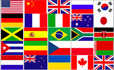 £3.25 • Buy 2020 Olympic Games 25 Country Flags 5x3 Single Or Bundle + Bunting Olympics Ring