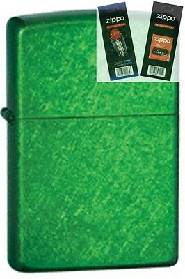 $13.26 • Buy Zippo 24840 Meadow Green Lighter With *FLINT & WICK GIFT SET*