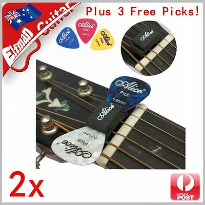 $ CDN5.59 • Buy Guitar Bass Pick Holder Rubber Head Clip Alice Free Picks FAST AU POST