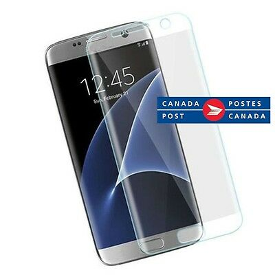 $ CDN3.56 • Buy Full Screen Coverage Curved S7 Edge Samsung Galaxy HD Clear Front Protector PET