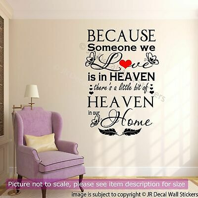 £10.99 • Buy Romantic Wall Sticker, 'Someone We Love'  Family Quote Wall Stickers Vinyl Decal