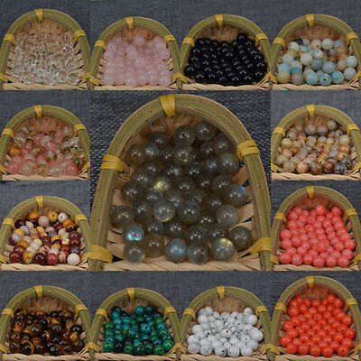 $ CDN3.01 • Buy New Wholesale Natural Gemstone Round Loose Spacer Stone Beads 4MM 6MM 8MM 10MM