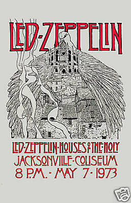 $12 • Buy Heavy Metal:  Led Zeppelin Houses Of Holy Florida Concert Poster 1973  12x18