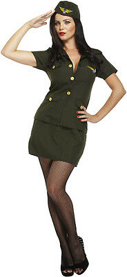 Ladies Army Lady Fancy Dress Costume Outfit Military Uniform WW2 - U88 123 • 11.35£