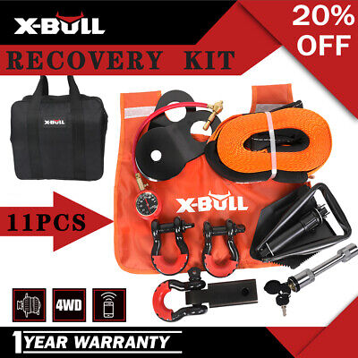 AU149 • Buy X-BULL Winch Recovery Kit 4x4 Pack Off Road Snatch Strap Essential 11PCS 4WD