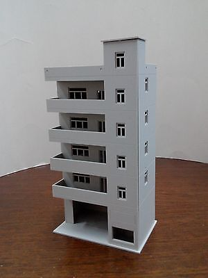 $ CDN21.46 • Buy HO Scale Building ( Apartment Building ) 1:87 HO Gauge Model Train Layout C14