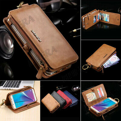 $ CDN21.15 • Buy New Flip Leather Business Wallet Card Slot Purse Case Cover For Samsung & IPhone