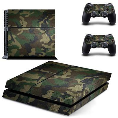 AU9.05 • Buy Camo Skin Sticker Cover For PS4   4 Console + Controller Decal