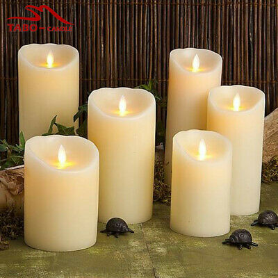 £5.99 • Buy Led White Wax Like Church Candles 3 Sizes Wedding Events Home Decor