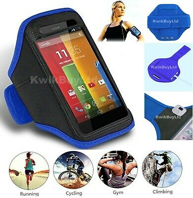 £3.99 • Buy Blue Sports Running Jogging Gym Exercise Fitness Armband Case For IPod Touch 6