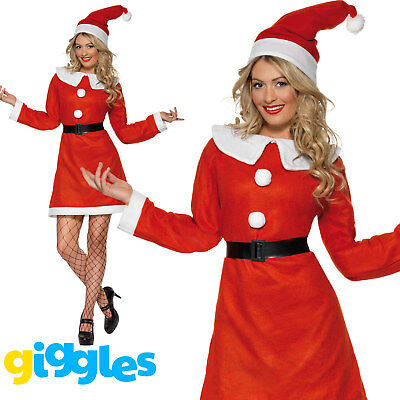 £8.22 • Buy Miss Santa Costume Womens Mrs Claus Father Christmas Xmas Fancy Dress Outfit