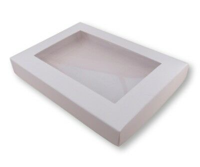 10 White A6 Window Boxes, Gift, Greeting Cards, Etc • 6.99£