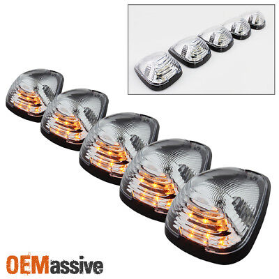 $34.99 • Buy Fits Ford Superduty Pickup Clear 5Pcs Amber LED Roof Top Running Cab Lights Kit