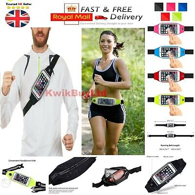 Sports Running Fitness Exercise Jogging Gym Waist Holder Case For IPhone Phones • 4.49£