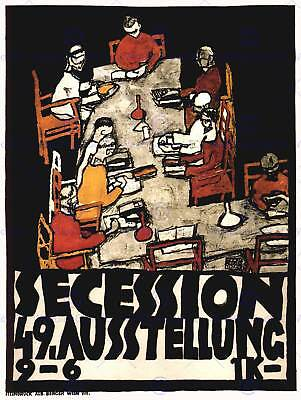 $ CDN15.56 • Buy Exhibition Secession Art Austria Vienna Klimt Vintage Advertising Poster 1764py