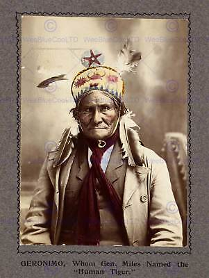 Portrait Chief Geronimo Native American Indian Chief New Art Print Poster Cc5354 • 9£