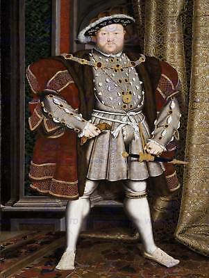 Painting Antique Holbein Junior Henry Tudor Viii King England Art Print Lah506b • 9£