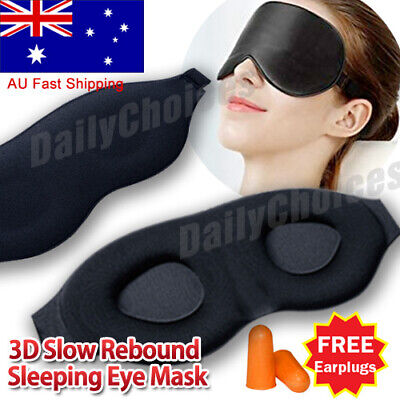 AU9.38 • Buy Travel Sleep Eye Mask Soft 3D Memory Foam Padded Shade Cover Sleeping Blindfold