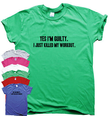 Funny T Shirts Mens Womens Slogan Tee Novelty Humour Top Yes I'm Guilty • 10.99£