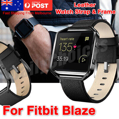 AU14.99 • Buy Watch Band+Frame Replacement Wrist Strap Black For Fitbit Blaze Smart Watch