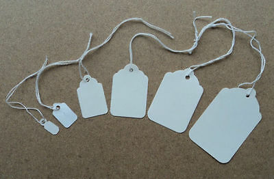 £3.50 • Buy New White Strung Swing Tie Tickets Price Label Tags