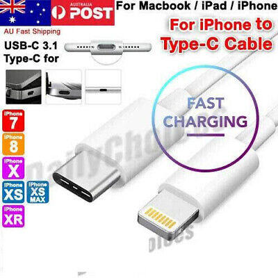 AU6.95 • Buy USB-C USB 3.1 Type C Male To Lightning 8Pin Data Cable For Macbook IPhone 1M