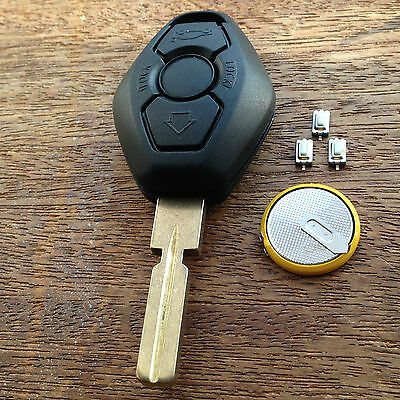 £6.39 • Buy For BMW E46 E39 E38 3 5 7 Z3 M3 M5 REMOTE KEY FOB FULL REPAIR KIT With Battery