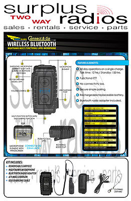 $199.50 • Buy NightHawk Bluetooth Adapter & Headset Motorola Police XPR6350 XPR6500 XPR6550