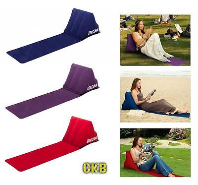 £15.99 • Buy Chill Wedge Inflatable Beach Chair Festival Camping Lounger Pillow Seat Cushion
