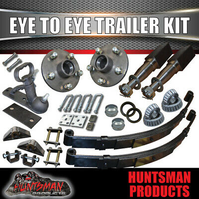 AU240 • Buy Diy Single Axle Trailer Kit 1000kg 60mm Eye To Eye Springs 40mm Stub Axles