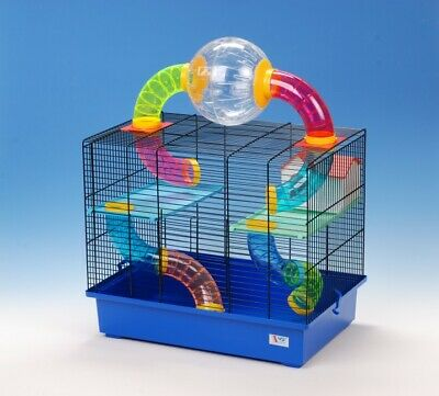 Large Gerbil Hamster Cage MOVING BALL Mouse Mice Water Bottle House Tubes Pet • 38.99£