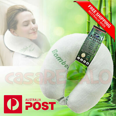 AU14.38 • Buy U Shaped Neck Pillow Flight Support Cushion BAMBOO MEMORY FOAM TRAVEL PILLOW