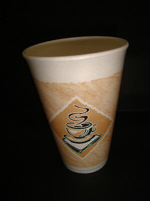 1000 X 16oz Foam / Polystyrene Drinking Cup (Printed Cafe G) HOT DRINKS (0823)  • 93.37£