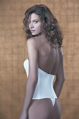 Jezebel Bustier Body Vintage Seamless Low Back Push-Up Bustier 8864 B32/70 BNWT  • 45.50£