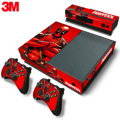 $13.99 • Buy Xbox One Console Skin Decal Sticker DeadPool + 2 Controller & Kinect Skins Set