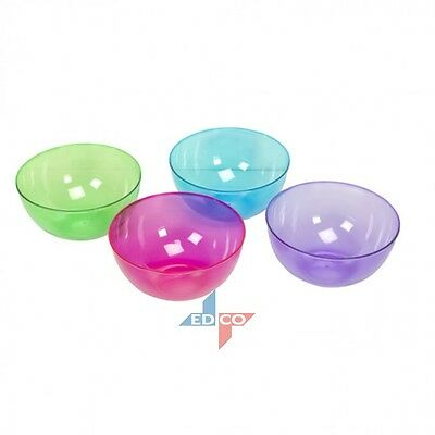Large 25cm Plastic Bowl Popcorn Celebration Party Plastic Snack Punch Large Bowl • 5.99£