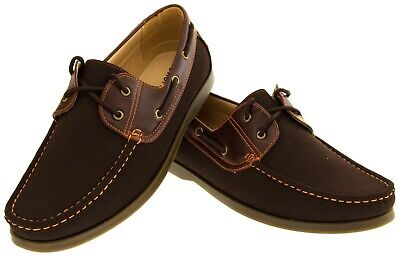 Mens SHORESIDE Deck Casual Boat Formal Smart Work Lace Up Shoes Size 7 8 9 10 11 • 29.95£