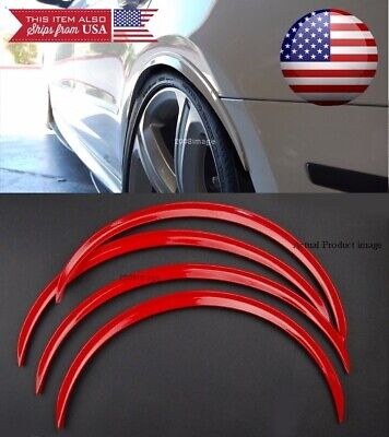 $27.98 • Buy 2 Pairs Red Flexible 1  Arch Body Wide Fender Extension Lip For Mitsubishi