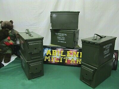 $97.85 • Buy 6 Pack 50 Cal Ammo Can Steel Storage M2A1 6 Cans INSIDE NO RUST EXCELLENT