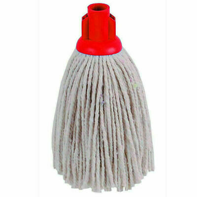£7.64 • Buy  240 GM Cotton String Mop Head RED Socket Refill Floor Tile Cleaning.PACK OF 5