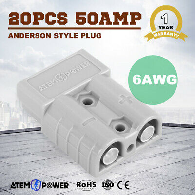 AU25.99 • Buy 20 X Anderson Style Plug Connectors DC Power Tool 50 AMP 12-24V 6AWG