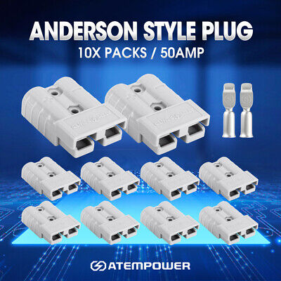 AU14.95 • Buy 10PCS Anderson Style Plug Connectors Tool 50 AMP 6AWG DC Power 12V 24V