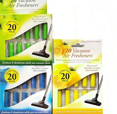 20pk Vacuum Air Fresheners Hoover Dust Bags Filters Cleaner Freshner Vac Hoover • 2.89£