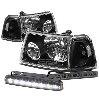 $79.08 • Buy Black Housing Head+clear Corner+smoked Led Fog Light Kit For 01-11 Ford Ranger