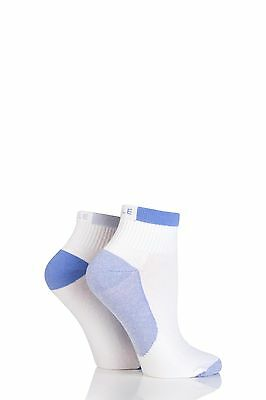 Ladies 2 Pair Elle Sport Non-Cushioned Anklet Socks • 8.99£